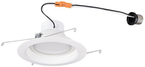 14 Watt (Replaces 80 Watt) 6-Inch Dimmable Recessed LED Downlight, ENERGY STAR, 2700K Warm White E26 (Medium) Base Socket Adapter, 120 Volt, Contractor Box