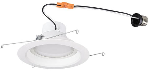 14 Watt (Replaces 80 Watt) 6-Inch Dimmable Recessed LED Downlight, ENERGY STAR, 3000K Warm White E26 (Medium) Base Socket Adapter, 120 Volt, Contractor Box
