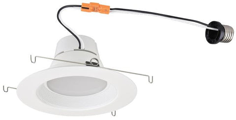 12 Watt (Replaces 65 Watt) 5-6-Inch Dimmable Recessed LED Downlight