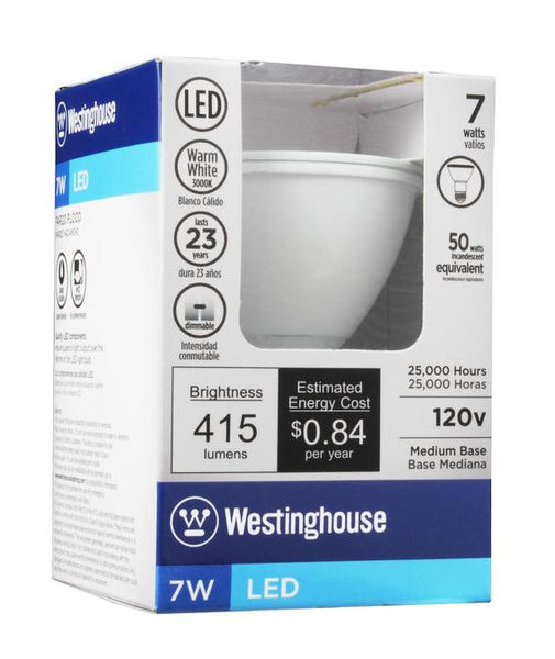 7 Watt (Replaces 50 Watt) PAR20 Reflector Dimmable LED Light Bulb, 3000K Warm White E26 (Medium) Base, 120 Volt Box - Lighting Getz
