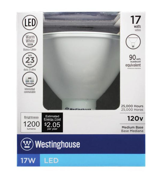 17 Watt (Replaces 90 Watt) PAR38 Reflector Dimmable LED Light Bulb, 3000K Warm White E26 (Medium) Base, 120 Volt Box - Lighting Getz