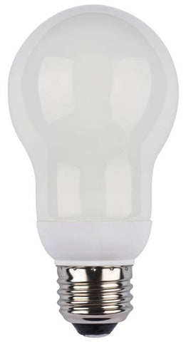 14 Watt A Shape CFL Light Bulb, 2700K Warm White E26 (Medium) Base, Box (2-Pack)
