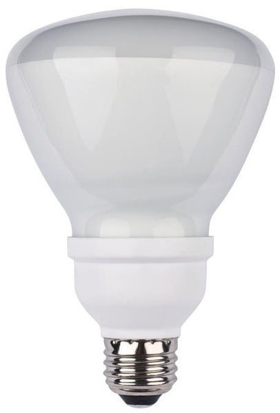 15 Watt R30 CFL Light Bulb, 3500K Cool White E26 (Medium) Base, Box - Lighting Getz