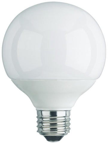 15 Watt Globe CFL Light Bulb, 2700K Warm White E26 (Medium) Base, Box