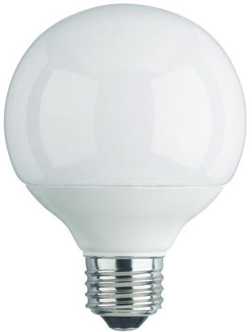 15 Watt Globe CFL Light Bulb, 2700K Warm White E26 (Medium) Base, Box (2-Pack)