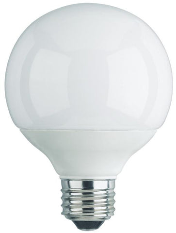 15 Watt Globe CFL Light Bulb, 3500K Cool White E26 (Medium) Base, Box (2-Pack)