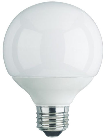 15 Watt Globe CFL Light Bulb, 6500K Daylight E26 (Medium) Base, Box (2-Pack)