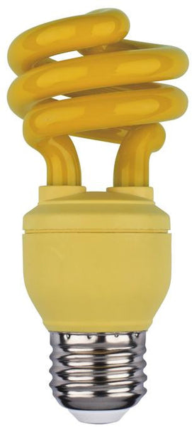 13 Watt Mini-Twist CFL Light Bulb, Yellow E26 (Medium) Base, Box - Lighting Getz