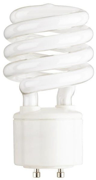 23 Watt Mini-Twist CFL Light Bulb, 2700K Warm White GU24 Base, Box - Lighting Getz