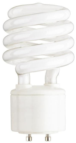 23 Watt Mini-Twist CFL Light Bulb, 2700K Warm White GU24 Base, Box