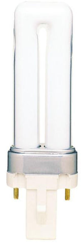 5 Watt Twin Tube CFL Light Bulb, 2700K Warm White G23 Base, Box