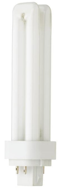 18 Watt Double Twin Tube CFL Light Bulb, 2700K Warm White G24Q-2 Base, Box - Lighting Getz
