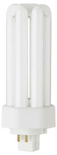 26 Watt Triple Twin Tube CFL Light Bulb, 3500K Cool White GX24q-3 Base, Box - Lighting Getz
