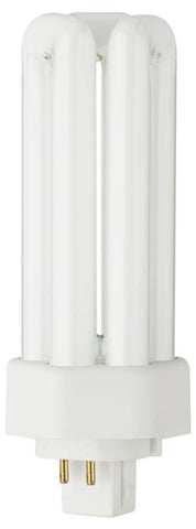 26 Watt Triple Twin Tube CFL Light Bulb, 3500K Cool White GX24q-3 Base, Box