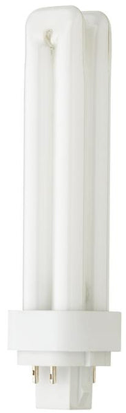 26 Watt Double Twin Tube CFL Light Bulb, 3500K Cool White G24Q-3 Base, Box - Lighting Getz