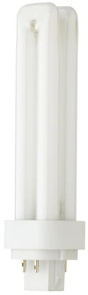 13 Watt Double Twin Tube CFL Light Bulb, 3500K Cool White G24q-1 Base, Box - Lighting Getz