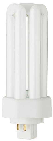 26 Watt Triple Twin Tube CFL Light Bulb, 4100K Cool White GX24q-3 Base, Box - Lighting Getz