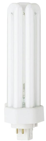42 Watt Triple Twin Tube CFL Light Bulb, 4100K Cool White GX24q-4 Base, Box - Lighting Getz
