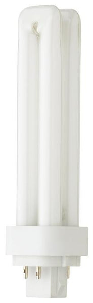 13 Watt Double Twin Tube CFL Light Bulb, 4100K Cool White G24q-1 Base, Box - Lighting Getz