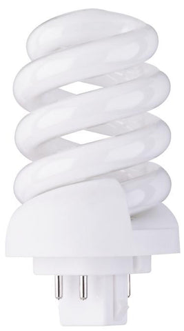 13 Watt Spiral Replacement CFL Light Bulb, 2700K Warm White G24q-1 Base, Box