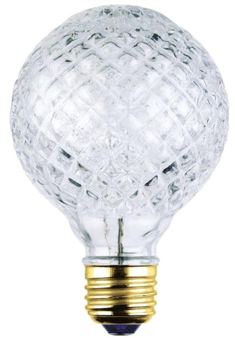 40 Watt G25 Eco-Halogen Cut Glass Light Bulb, 2850K E26 (Medium) Base, 120 Volt, Box