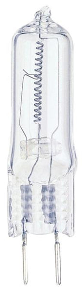 25 Watt T4 JC Halogen Light Bulb, 2850K Clear GY6.35 Base, 120 Volt, Card - Lighting Getz
