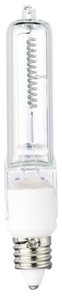 100 Watt Halogen T4 Single-Ended Light Bulb, 2950K Clear Mini-Can Base, 120 Volt, Card - Lighting Getz