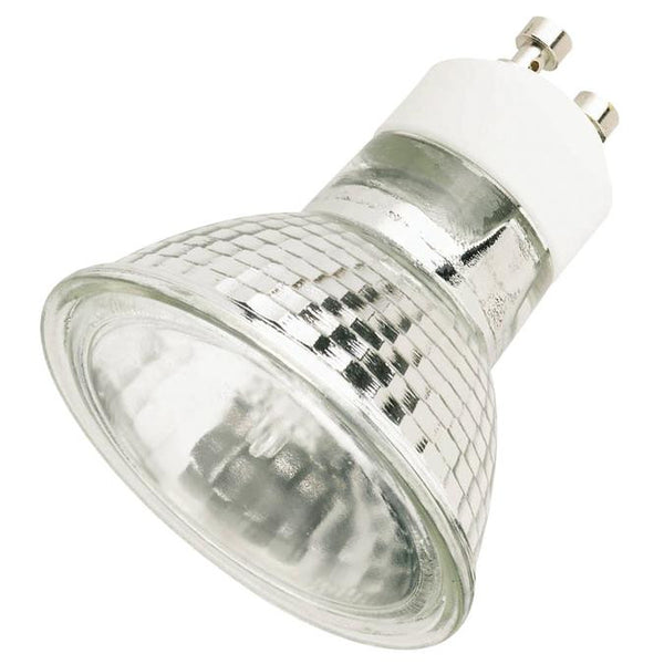 35 Watt MR16 Halogen Flood Light Bulb, 2800K Clear Lens GU10 Base, 120 Volt, Card - Lighting Getz