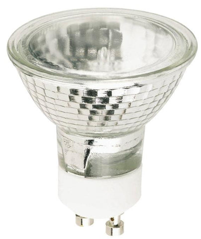 35 Watt MR16 Halogen Flood Light Bulb, 2800K Clear Lens GU10 Base, 120 Volt, Card