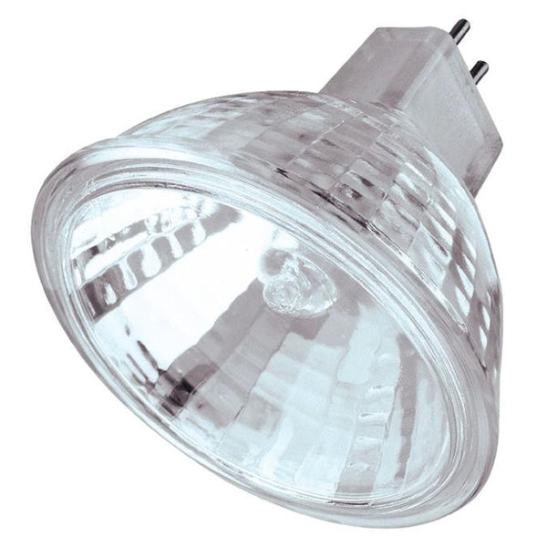20 Watt MR16 Halogen Low Voltage Flood Light Bulb, 2950K Clear Lens GU5.3 Base, 12 Volt, Card - Lighting Getz