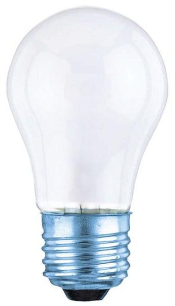 60 Watt A15 Incandescent Non-Stick Light Bulb, 2700K Frost E26 (Medium) Base, 120 Volt, Card - Lighting Getz