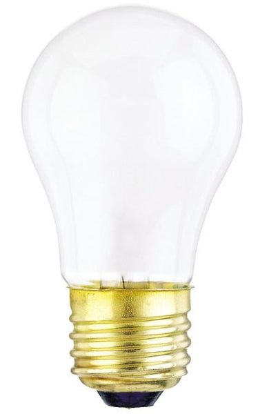 25 Watt A15 Incandescent Light Bulb, 2700K Frost E26 (Medium) Base, 120 Volt, Box (2-Pack) - Lighting Getz