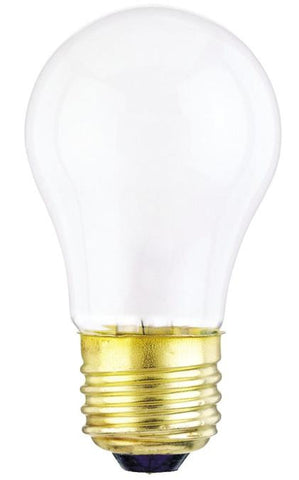 25 Watt A15 Incandescent Light Bulb, 2700K Frost E26 (Medium) Base, 120 Volt, Box (2-Pack)