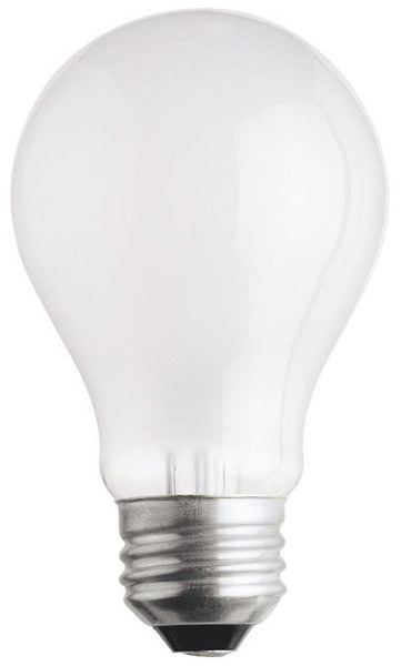 25 Watt A19 Incandescent Light Bulb, 2700K Frost E26 (Medium) Base, 120 Volt, Box (2-Pack) - Lighting Getz