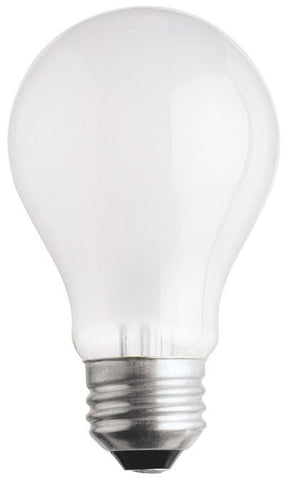 25 Watt A19 Incandescent Light Bulb, 2700K Frost E26 (Medium) Base, 120 Volt, Box (2-Pack)