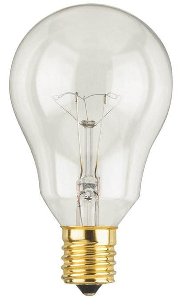 40 Watt A15 Incandescent Fan Light Bulb, 2700K Clear E17 (Intermediate) Base, 120 Volt, Card (2-Pack) - Lighting Getz