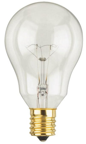 40 Watt A15 Incandescent Fan Light Bulb, 2700K Clear E17 (Intermediate) Base, 120 Volt, Card (2-Pack)