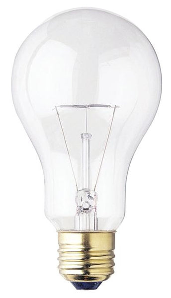 150 Watt A21 Incandescent Light Bulb, 2700K Clear E26 (Medium) Base, 120 Volt, Box - Lighting Getz