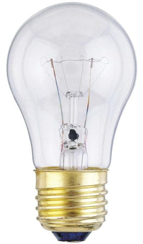 40 Watt A15 Incandescent Appliance Light Bulb, 2700K Clear E26 (Medium) Base, 120 Volt, Card