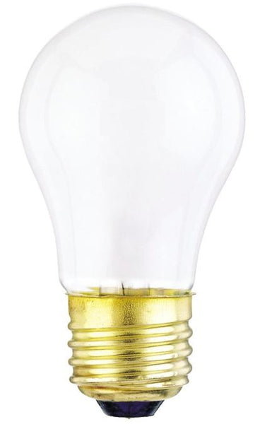 40 Watt A15 Incandescent Appliance Light Bulb, 2700K Frost E26 (Medium) Base, 120 Volt, Card - Lighting Getz