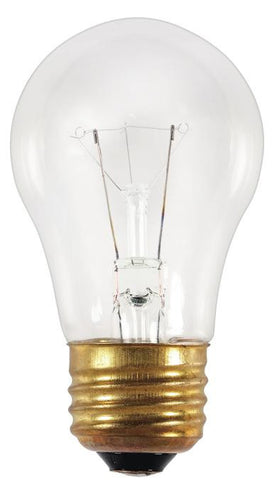 25 Watt A15 Incandescent Appliance Light Bulb, 2700K Clear E26 (Medium) Base, 120 Volt, Card