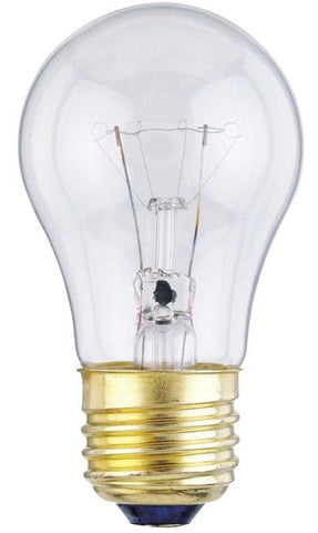 15 Watt A15 Incandescent Light Bulb, 2700K Clear E26 (Medium) Base, 130 Volt, Box (2-Pack)