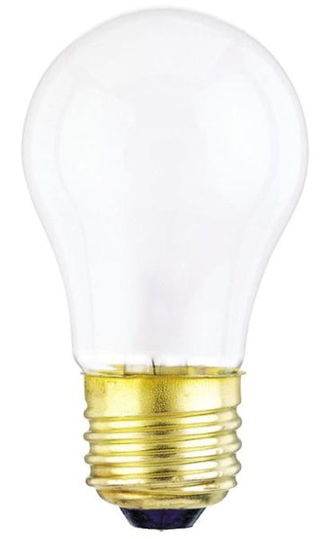 15 Watt A15 Incandescent Light Bulb, 2700K Frost E26 (Medium) Base, 130 Volt, Box (2-Pack) - Lighting Getz