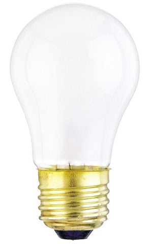 15 Watt A15 Incandescent Light Bulb, 2700K Frost E26 (Medium) Base, 130 Volt, Box (2-Pack)