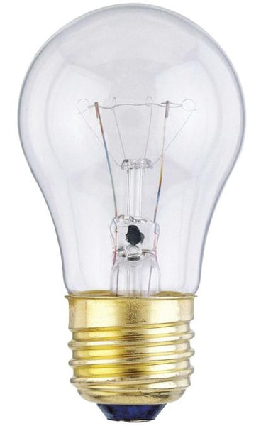 25 Watt A15 Incandescent Light Bulb, 2700K Clear E26 (Medium) Base, 130 Volt, Box (2-Pack) - Lighting Getz