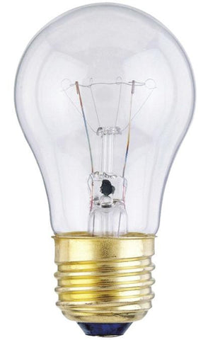 25 Watt A15 Incandescent Light Bulb, 2700K Clear E26 (Medium) Base, 130 Volt, Box (2-Pack)