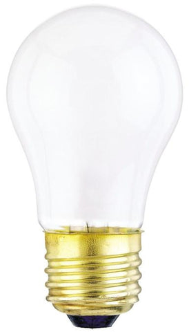 60 Watt A15 Incandescent Vibration Resistant Light Bulb, 2700K Frost E26 (Medium) Base, 130 Volt, Box (2-Pack)