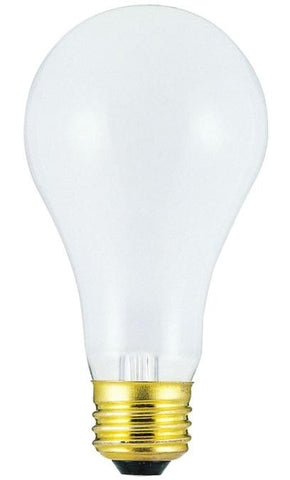 150 Watt A21 Incandescent Light Bulb, 2700K Frost E26 (Medium) Base, 130 Volt, Box