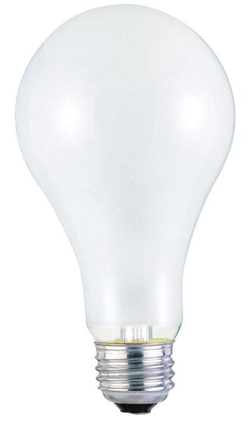 200 Watt A23 Incandescent Light Bulb, 2700K Frost E26 (Medium) Base, 130 Volt, Box - Lighting Getz