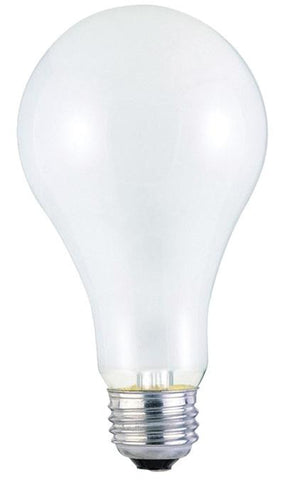 200 Watt A23 Incandescent Light Bulb, 2700K Frost E26 (Medium) Base, 130 Volt, Box